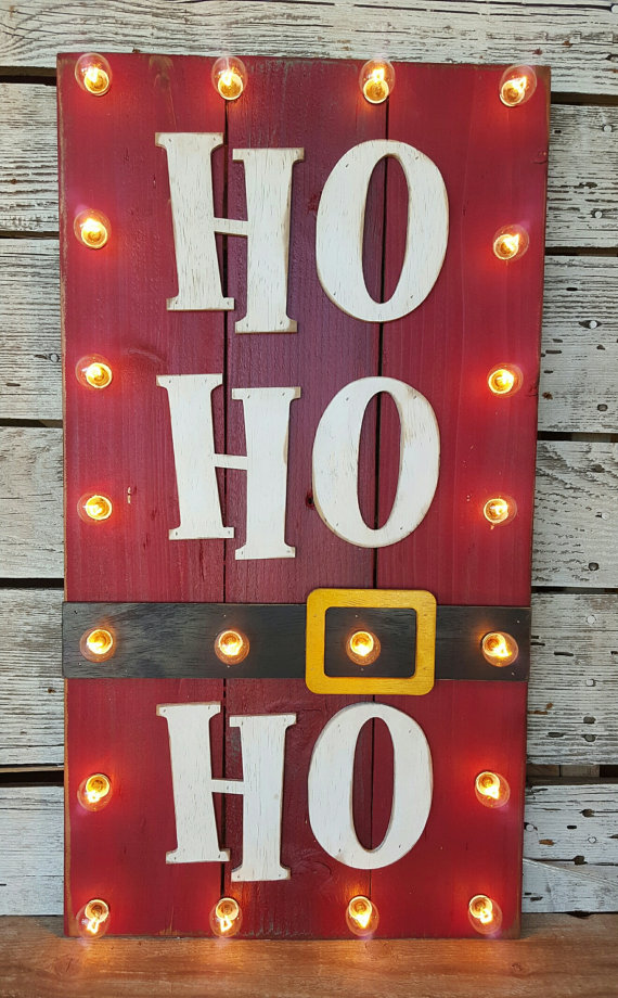 20 Christmas Sign Ideas With Lights - 20 Christmas Sign Ideas With Lights - Home Decor & DIY Ideas