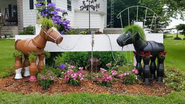 Repurposed garden decoration ideas
