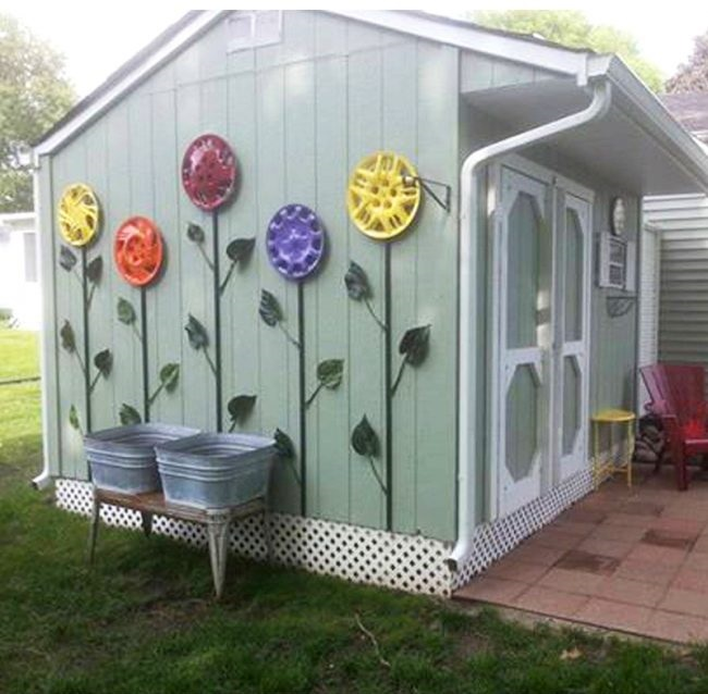 Repurposed garden decoration ideas home decor diy ideas for Repurposed home decorating ideas